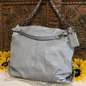 COACH XL Brooke Op Art Perforated Tote 15003 VGC!